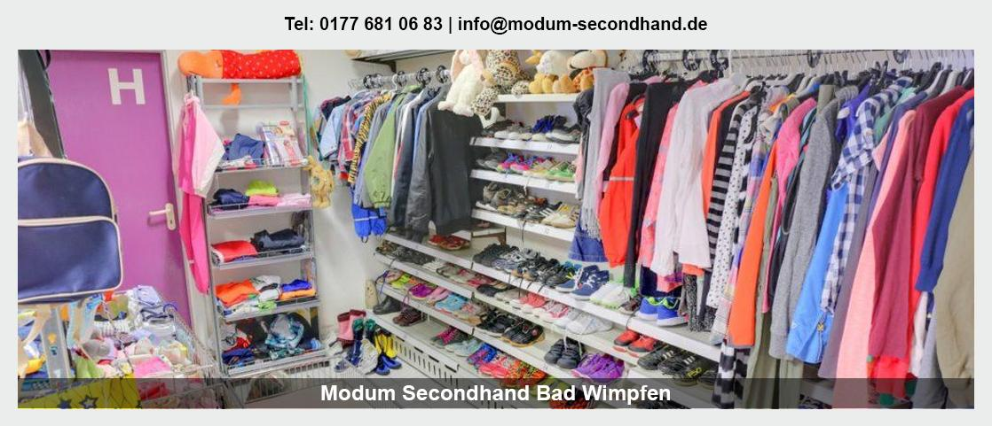 Second Hand Shop in Oedheim - Modum Secondhand: Babybekleidung, Sportartikel