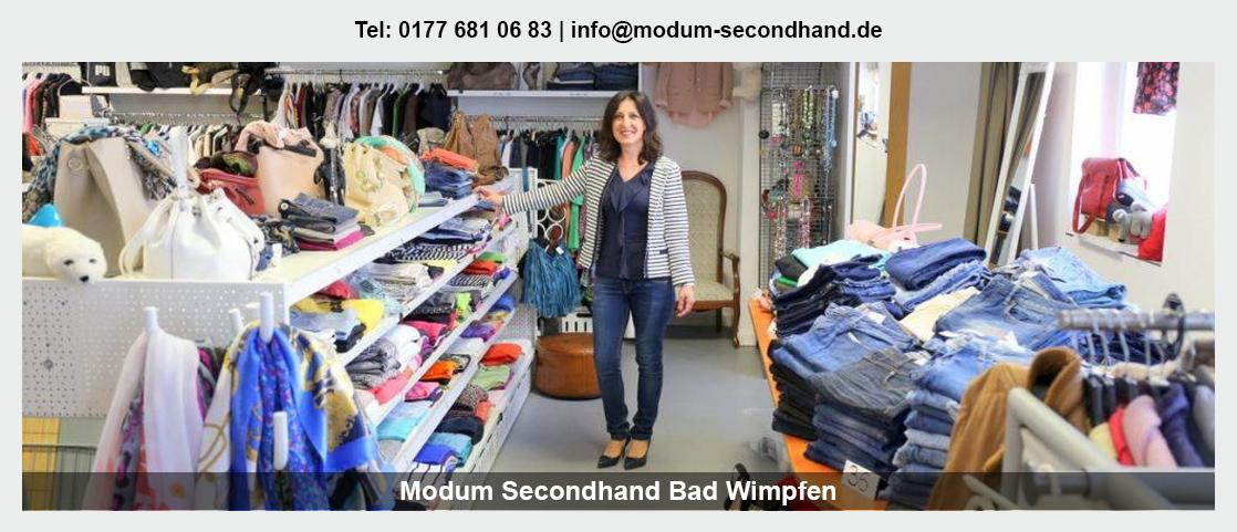 Second Hand Shop in Großbottwar - Modum Secondhand: Babybekleidung, Sportartikel